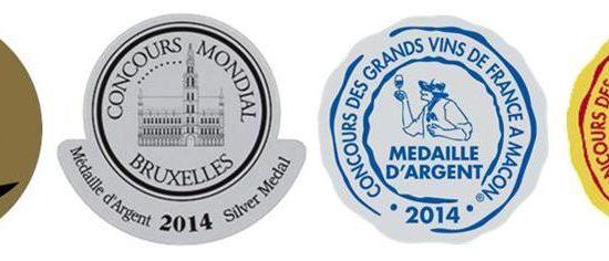 image Le plein de médailles en 2014 pour les Vignobles Chatonnet