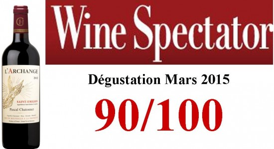 image L'Archange 2012 reçoit 90/100 par Wine Spectator