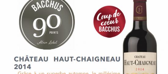 Image Château Haut Chaigneau 2014 – Élu coup de cœur et obtient 90 point chez Bacchus