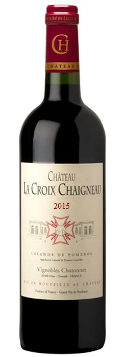 visuel Château La Croix Chaigneau 2015