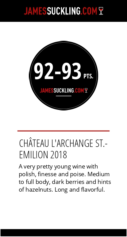 Notes de l'Archange 2018 par James Suckling 93/100